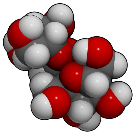 Estructura 3D molecular de la mol�cula de az�car dulce (sacarosa, sacarosa) Foto de archivo - 12421927