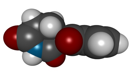 myeloma: 3D molecular structure of thalidomide