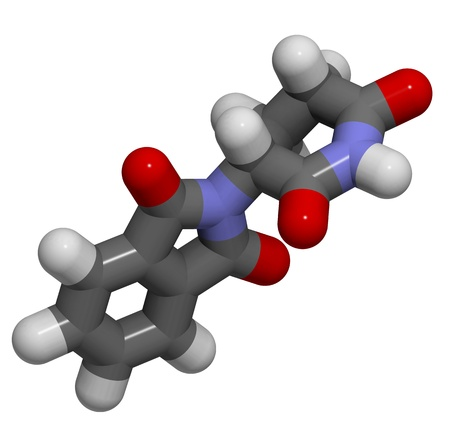 teratogenic: 3D molecular structure of thalidomide