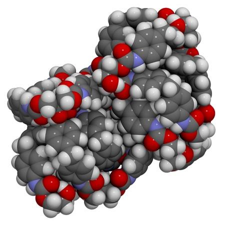 monomer: La estructura molecular de una part�cula de poliuretano, un pl�stico de uso com�n en la fabricaci�n de materiales de aislamiento y espumas