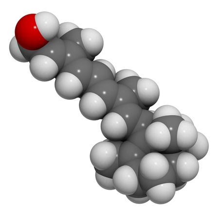 A molecule of Vitamin A (retinol) Stock Photo - 12988537