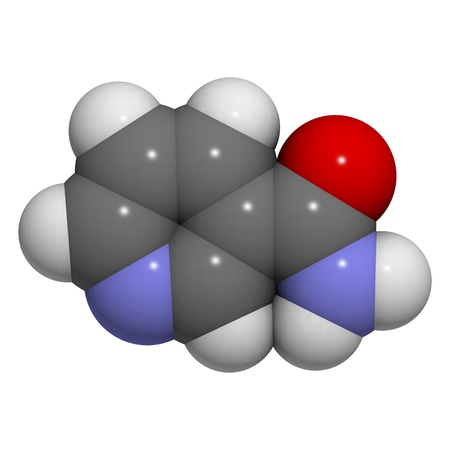 A molecule of Vitamin B3 (niacin, niacinamide, nicotinic acid amide) photo