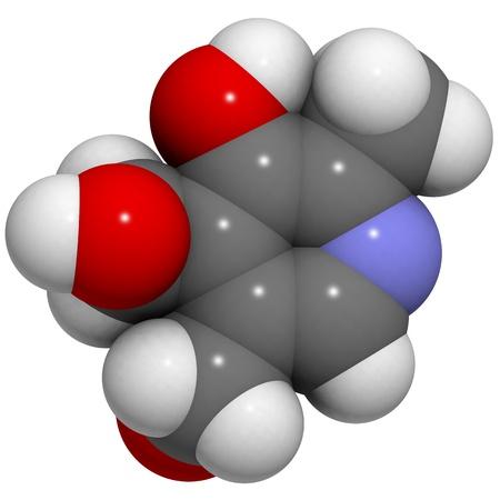 A molecule of Vitamin B6 (pyridoxine) Stock Photo - 12988553
