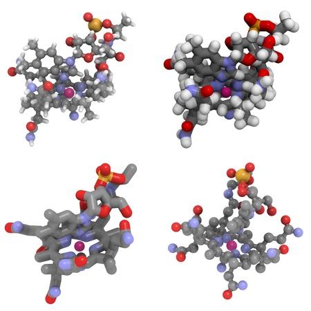 molekuul: A molecule of Vitamin B12 (cyanocobalamin)