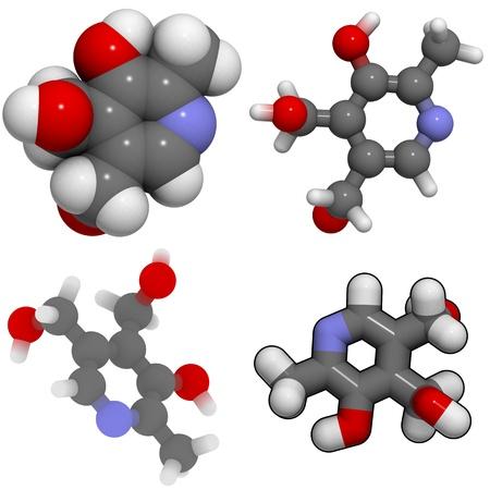 molekuul: A molecule of Vitamin B6 (pyridoxine)