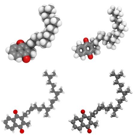 molekuul: A molecule of Vitamin K1 (phylloquinone)