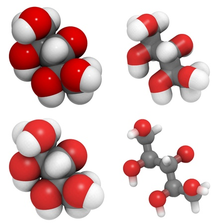 molekuul: Molecule of xyitol, a sugar substitute sweetener