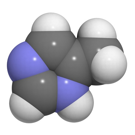 molekuul: molecule of 4-methylimidazole (4-MEI) a, propable carcinogenic present in some cola drinks.
