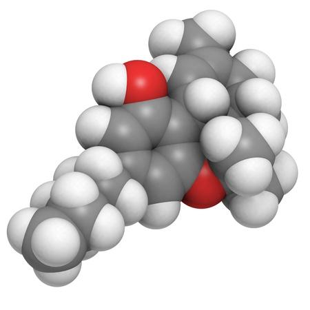 constituent: molecule of delta-9-tetrahydrocannabinol, the main constituent of cannabis.