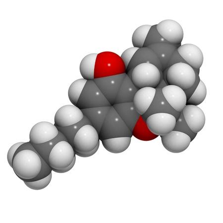 cannabinoid: molecule of delta-9-tetrahydrocannabinol, the main constituent of cannabis.