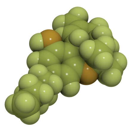 molecule of delta-9-tetrahydrocannabinol, the main constituent of cannabis.