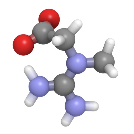 A molecule of creatine  Stock Photo