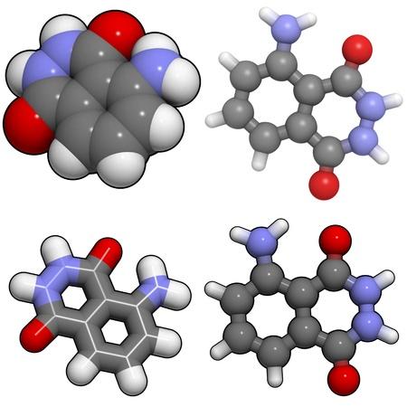 Una mol�cula de luminol, una sustancia qu�mica que se utiliza para detectar la sangre por los investigadores de la escena del crimen. Foto de archivo - 13373400