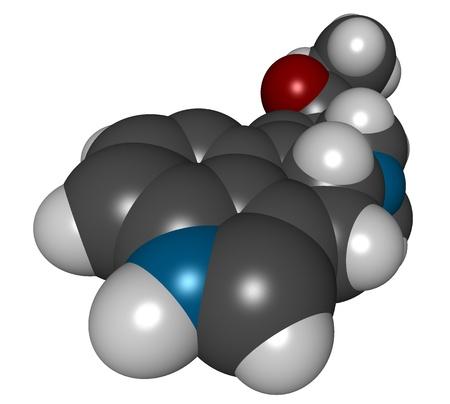 lsd: Lysergic acid diethylamide (LSD), 3D structure isolated on white..