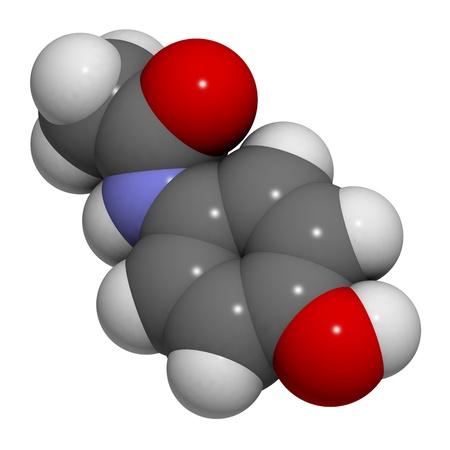 Estructura 3D molecular de paracetamol (acetaminofeno) Foto de archivo - 13614194