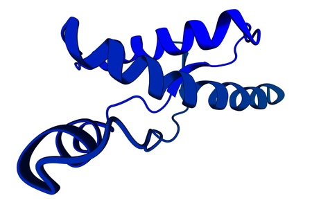 proteomics: Chemical structure of a human prion protein molecule (hPrP), which is associated with transmissible spongiform encephalopathies, including Creutzfeldt-Jacob Disease.