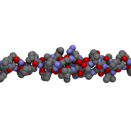 proline: Chemical structure of a triple helix formed by 3 collagen molecules.