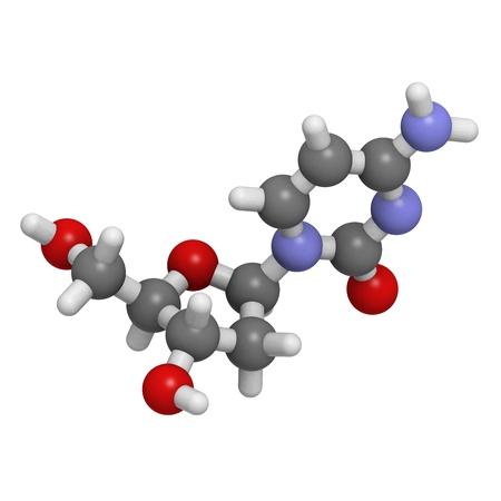monomer: Estructura qu�mica de una mol�cula de desoxicitidina (dC, C), uno de los cuatro bloques de construcci�n de ADN.