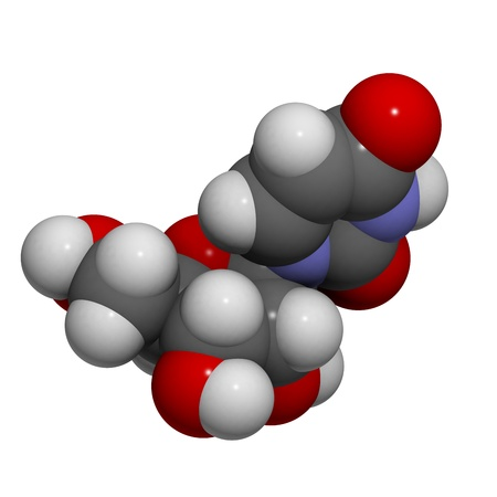 nucleoside: Chemical structure of a molecule of Uridine (U). This is one of the four building blocks of RNA. Stock Photo