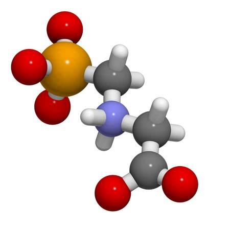 systemic: Chemical structure of Glyphosphate, a broad-spectrum systemic herbicide commonly used to kill weeds.