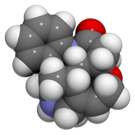 acetylcholine: Chemical structure of a strychnine molecule.Strychnine is a highly toxic alkaloid that is extracted from the seeds of Strychnos nux-vomica.
