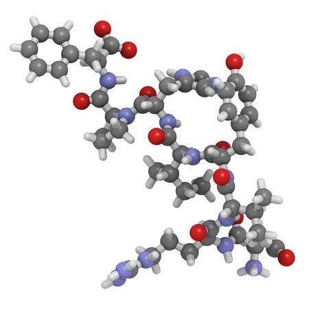 physiological: Estructura qu�mica de una mol�cula de la angiotensina II (AII) p�ptido, una hormona pept�dica que tiene un n�mero de efectos fisiol�gicos y juega un papel en la regulaci�n de la presi�n arterial.