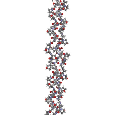 proline: Chemical structure of a collagen model protein.