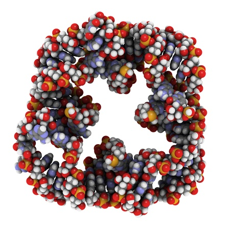 selfassembly: RNA nanosquare Stock Photo