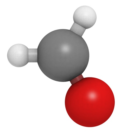 Chemical structure of a molecule of formaldehyde (CH2O). Stock Photo - 16398808