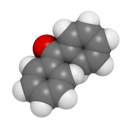 Benzophenone molecule, chemical structure. Stock Photo - 17236545
