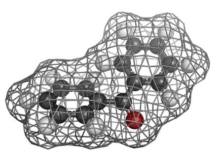 initiator: Benzophenone molecule, chemical structure.