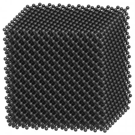 Diamond crystal structure. photo