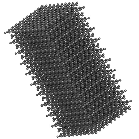 allotrope: Graphite crystal structure. Graphite is the main component of lead in drawing pencils. Stock Photo