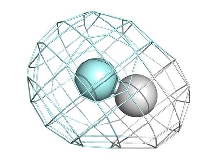 fluoride: El fluoruro de hidr�geno (HF) mol�cula, la estructura qu�mica. A temperatura ambiente, HF se produce como un gas incoloro.