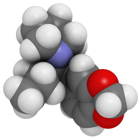 norepinephrine: methylenedioxypyrovalerone (MDPV, Bath salts) molecule, chemical structure.