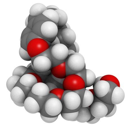 std: Nonoxynol-9 (N-9) molecule, chemical structure. N-9 is a surfactant molecule with spermicidal properties. Stock Photo