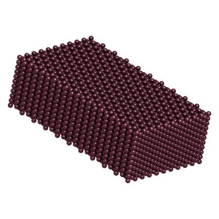 Plutonium (Pu) metal, crystal structure Stock Photo - 17236662