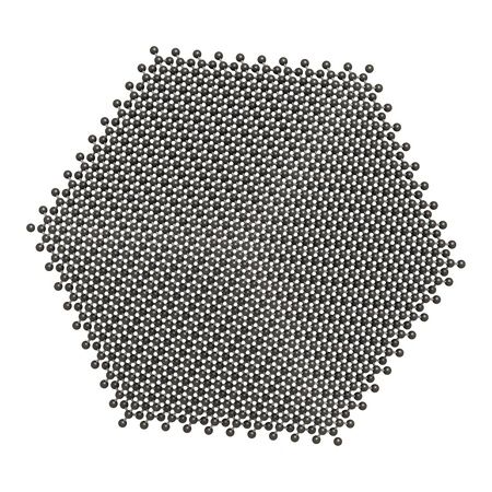 Pure silicon (Si, silicium), crystal structure. Si is the main building material of computer chips. photo