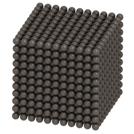 Uranium (U), crystal structure Stock Photo - 17236684