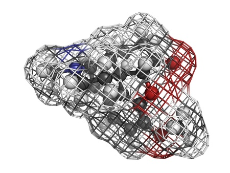 Hydrocodone opoid analgesic drug, molecular model Stock Photo - 17817676