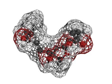 Prostaglandin I2 (PGI2, epoprostenol) pulmonary hypertension drug, molecular model. PGI2 is an eicosanoid drug that inhibits platelet activation and causes vasodilation. Stock Photo - 17817652