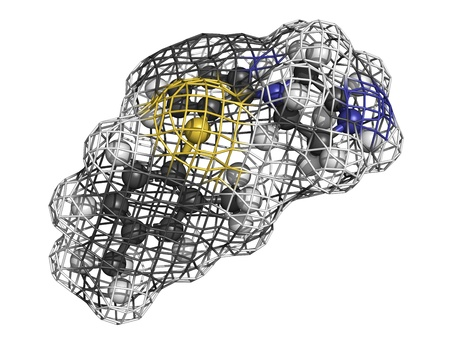 Vortioxetine antidepressant drug, molecular model Stock Photo - 17817662