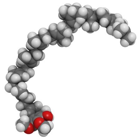 Coenzym Q10 (Ubichinon) Molekül, chemischen Struktur. Coenzym Q10 spielt eine wesentliche Rolle bei der Produktion von zellulären Energie und hat antioxidative Eigenschaften. Atome sind als Kugeln mit herkömmlichen Farbcodierung repräsentiert: Wasserstoff (weiß), Kohlenstoff (gr Standard-Bild - 18947445