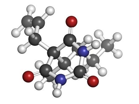 sedative: Secobarbital barbiturate sedative, chemical structure Stock Photo