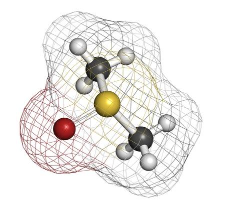 dimethylsulfoxide (DMSO) molecule, chemical structure