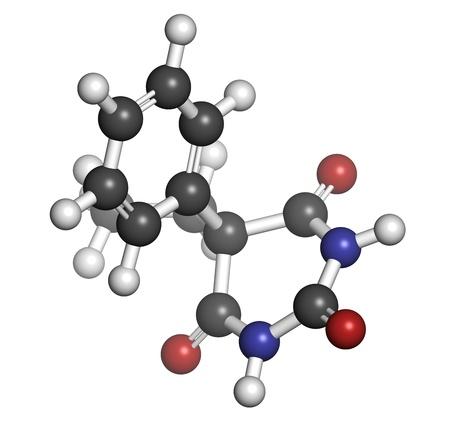 anticonvulsant: Phenobarbital barbiturate anticonvulsant (epilepsy drug), chemical structure