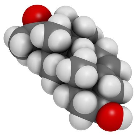 precursor: Pregnenolone neurosteroid and prohormone molecule, chemical structure