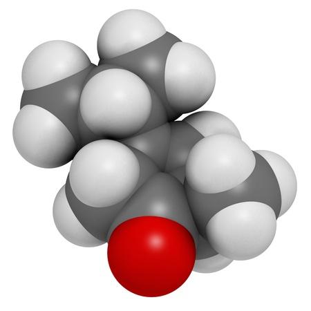 ajenjo: Absinthe mol�cula, estructura qu�mica Thujone (alfa)