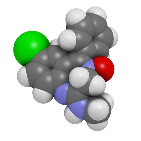 sedative: Chlordiazepoxide sedative and hypnotic drug, chemical structure