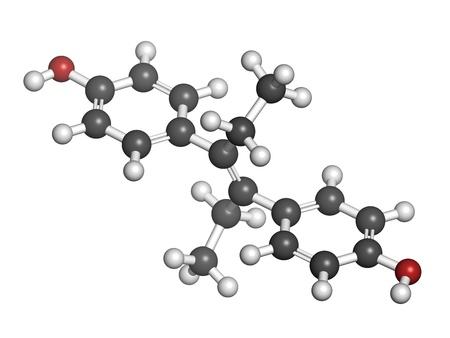 teratogenic: Diethylstilbestrol (DES, stilboestrol) synthetic estrogen molecule, chemical structure